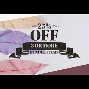 25% Off Bundles!!!